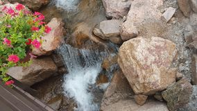 Small Fall with Rocks stock photo