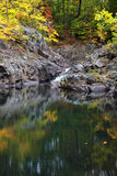Small Falls at Bay Brook. Small waterfall in autumn at Bay Brook Adirondacks royalty free stock photography