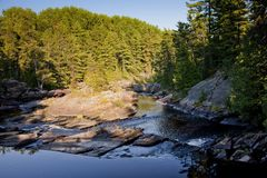 Small falls in northern river Stock Photography