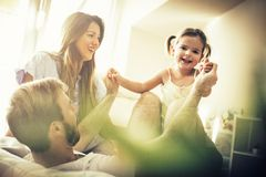 Small family big love. stock images
