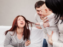 The small family conflict Stock Images