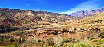 Small family Kasbah in atlas mountains,morocco stock photo