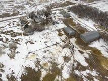 South Dakota family owned farmed during winter stock photos