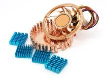 Small fan for microprocessor Stock Photo