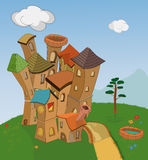 Small fantastic knight's castle Stock Photography