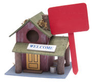 Small Farm Home With Red Sign Royalty Free Stock Photo
