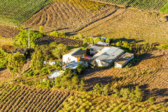 Small Farm House Aerial View Stock Photography