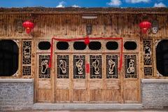 Small farm house. Guizhou Anshun Wulong Temple of Tiantai Mountain foot of the small farm house Stock Photo