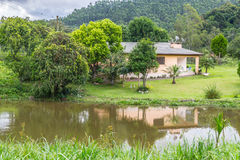 Small Farm House with lake Royalty Free Stock Image