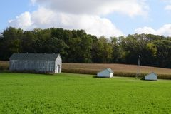 Small farm in wisconsin Royalty Free Stock Images