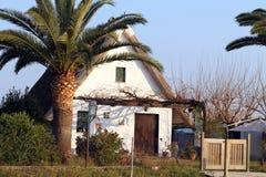 Small farmhouse typical of Valencia,La Albufera nature reserve, El Palmar, Valencia, Comunidad Valenciana, Spain. Royalty Free Stock Image