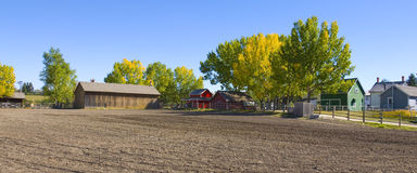 Small Farming Town. Small farming community in a old fashioned town Royalty Free Stock Images