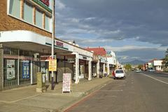 Small farming town with storefronts in Zulu Land in South Africa Stock Photos