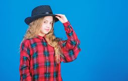 Small fashionista. Cool cutie fashionable outfit. Happy childhood. Kids fashion concept. Check out my fashion style. Fashion trend. How stylish am i in this royalty free stock images