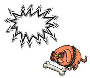 Small fat dog-100. Cartoon image of small fat dog. An artistic freehand picture Royalty Free Stock Photos