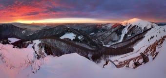 Small Fatra panorama at sunrise Stock Photos