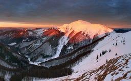 Small Fatra panorama at sunrise Royalty Free Stock Photos