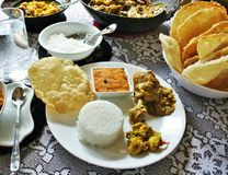 Small feast - Indian way Stock Photo