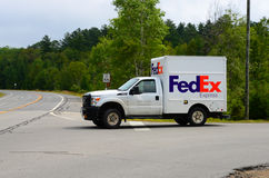 Small FedEx delivery truck Royalty Free Stock Photo