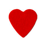 Small felt red heart Royalty Free Stock Photo
