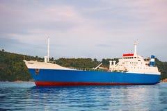 Small ferry cargo ship Stock Photos