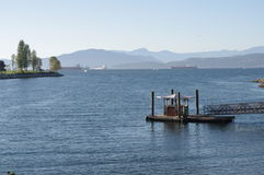 Small ferry dock Royalty Free Stock Photography