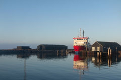 Small Ferry at Port Stock Images