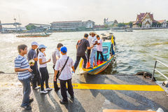 Small ferry on the river Chao Phraya in Bangkok Royalty Free Stock Photography