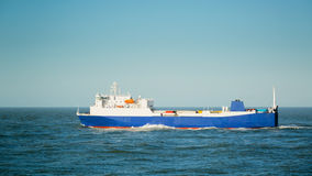 Small Ferry at Sea Royalty Free Stock Images