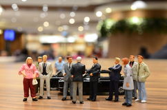 Small figure of business Royalty Free Stock Images