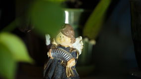 Small figure funny Fairy accordion stock video footage