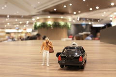 Small figure with the japan taxi Royalty Free Stock Photo