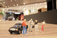 Small figure with the japan taxi Stock Photos