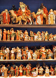 Small figures of Belen, Christmas market Royalty Free Stock Photography