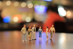 The small figures of business meeting event Stock Photo