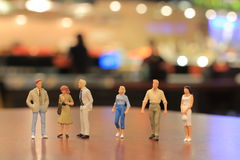 The small figures of business meeting event Stock Photography