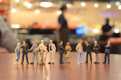 The small figures of business meeting event Stock Photos