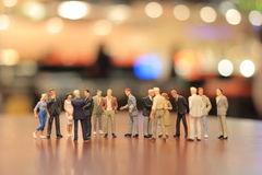 The small figures of business meeting event Royalty Free Stock Image