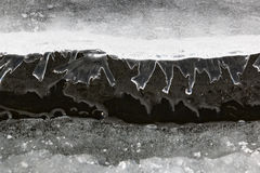 Small figures of ice reflecting from water surface Stock Images