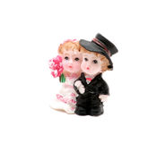 Small figurine of newlywed Royalty Free Stock Photos