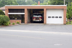 Small Fire Station Stock Photography