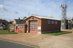 The small fire station in hailsham east sussex royalty free stock images