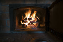 Small fireplace, brickwork Stock Photography