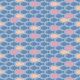 Small fish. Cute and simple seamless pattern with colorful fish Royalty Free Stock Photography