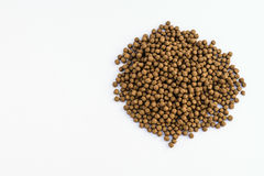 Small Fish feed. On white background Royalty Free Stock Images