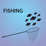 Small fish fishing eps10 Stock Photography