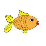 Small fish on a white background Stock Images