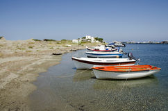 Small fisherboats at the harbor of Skyros isla Royalty Free Stock Photo