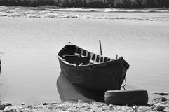 Small fisherman boat. A small fisherman boat waiting for the next trip Stock Images