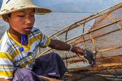 Small Fisherman Royalty Free Stock Photos